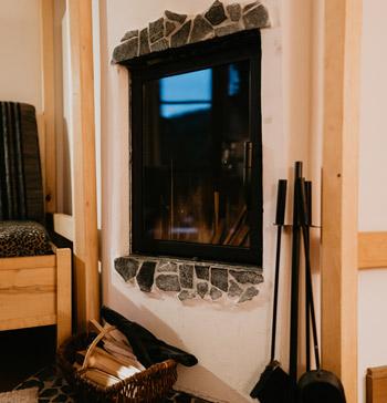 Kamin in den Suiten