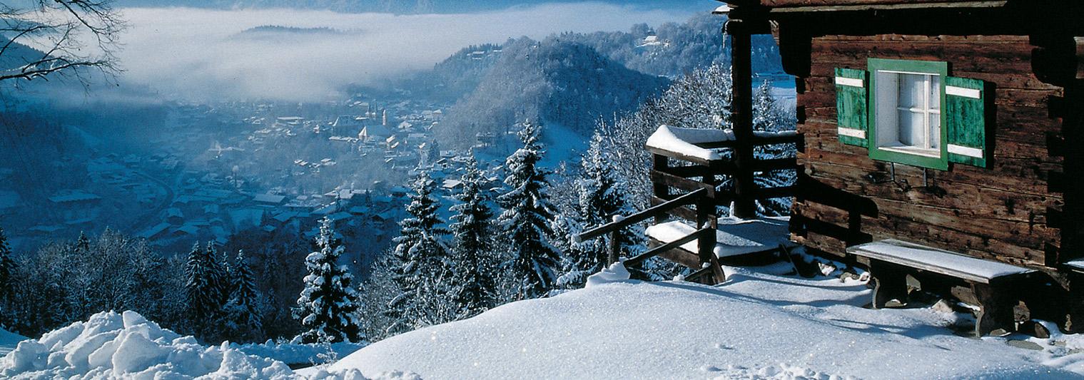 Winter über Berchtesgaden