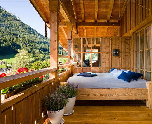 Bett auf Loggia